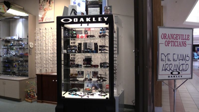Oakley sunglasses display at Orangeville Opticians