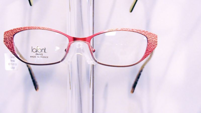 Lafont Frames with red accent