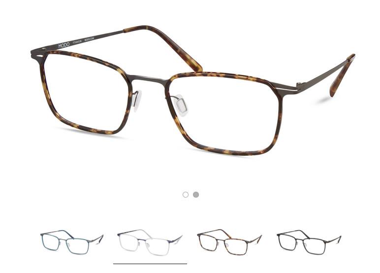 Modo paper thin titanium glasses